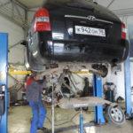 Подъёмник для авто в СТО